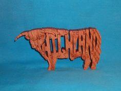 Highland Bull Scroll Saw Wooden Puzzle by huebysscrollsawart, $9.00
