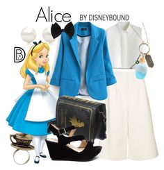 Alice by leslieakay on Polyvore featuring Chicwish, Disney, Tiffany & Co., Dorothy Perkins, disney, aliceinwonderland, disneybound and disneycharacter