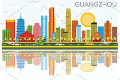 #Guangzhou #Skyline by Igor Sorokin on @creativemarket
