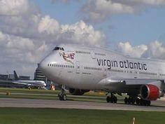 Virgin Atlantic Airways Boeing 747-400 G-VAST Take off from MAN 26.04.09...