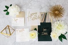 modern glam wedding invitations