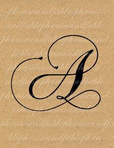 Lettera A Cuore 272 Digital Download Alfabeto iniziale Nome Glyph carattere font Tipografia clipart on Etsy, €1,54