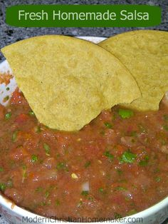 Salsa is always best when fresh.  Perfect amount of heat and amazingly quick to make.