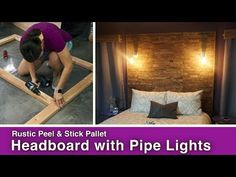 How to Make a Pallet Headboard With Wood Tile | Hometalk