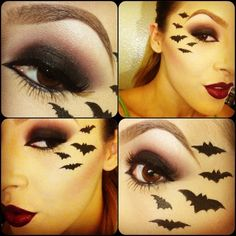 Halloween - Make-up Schminke und Co. Halloween Scene, Family Halloween Costumes, Halloween Bats, Halloween Town, Halloween Make Up, Halloween Face Makeup, Bat Makeup, Costume Makeup, Bat Eyes