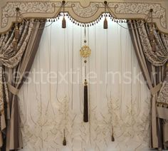 Восточный интерьер деко   Шторы для гостиной   дизайн штор от ...