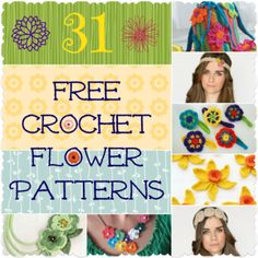 31 Free Crochet Flower Pattterns