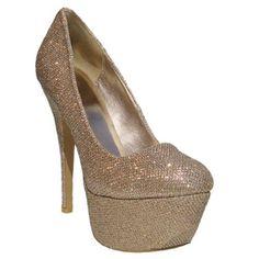 $24.90 Women's Qupid Champagne Gold Glitter Round Toe Platform High Heel Pump (Psyche24)  From Qupid   Get it here: http://astore.amazon.com/ffiilliipp-20/detail/B009KVZ8XE/177-5942077-5583856