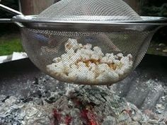 This is so clever! need to try it. - Campfire popcorn!