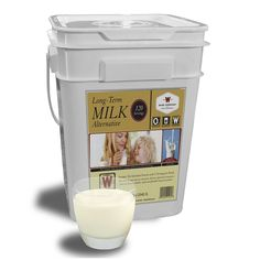 Be wise; be prepared with 120 servings of Wise Long-Term Milk. Each bucket contains 120 Servings of Wise Shelf-Stable Long-Term Whey Milk. Each individual bucket contains durable pouches of powdered whey Wise Food Storage, Food Storage Shelves, Emergency Food Storage, Emergency Food Supply, Long Term Food Storage, Emergency Supplies, Prepper Food, Survival Food, Survival Tips