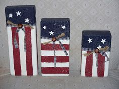 Patriotic scrap - Crafty Camper Girl: Memorial Weekend Craft Projects Part 1 wood crafts crafts design crafts diy crafts furniture crafts ideas Scrap Wood Crafts, Brick Crafts, 2x4 Crafts, Wood Block Crafts, Scrap Wood Projects, July Crafts, Craft Projects, Craft Ideas, Wood Blocks