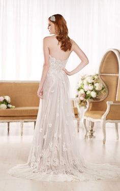 D1787 Flowy Beach Wedding Dresses by Essense of Australia