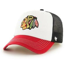 c8ac9e0e0 Chicago Blackhawks McKinley Closer mesh Flex Fit Hat By  47 Brand