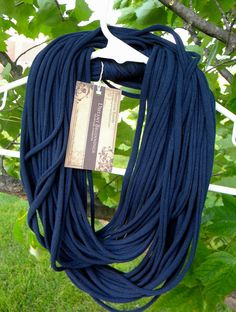 repurposed t shirt necklace scarf