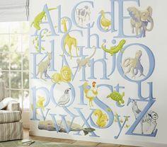On clearance for $54.99! 7.5 ft x 7.5 ft!!!  Jumbo Alphabet Mural | Pottery Barn Kids