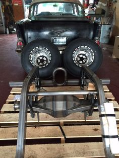 Morrison clip, fab 9 style rear, 315 drag radials on 15x14 weld v Series