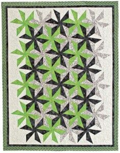 This version of Spinout was featured in the July/August issue of Quiltmaker. Designed by Barbara Cline.