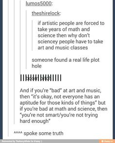 The shitty life of Arts students
