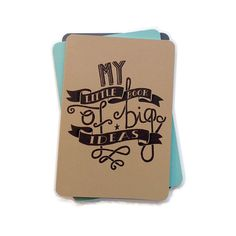A5 Blank Notebook - My Little Book of Big Ideas Notebook - Sketchbook / Field Notes / Hand Lettering / Moleskine / Cahier