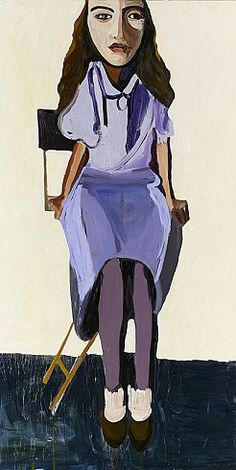 PURPLE BLOUSE, 2007  Oil on board  120 x 60 inches  304.8 x 152.4 centimeters