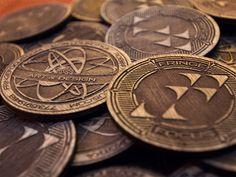 biz card / Fringe Focus Wooden Coins