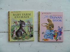 Little Golden Book Baby Farm Animals and The Bunny by HomeEcClass