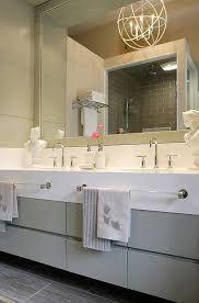 Towel Bar In Front Of Sink Grey Bathroom Vanity Gray Bathroom Decor Towel Bar