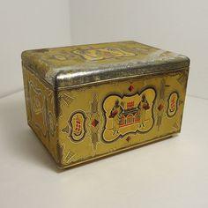 Eduscho KaffeeTeeKakao Tin  Shabby Vintage by SkeeterBitz on Etsy, $24.00