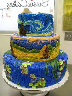 love the technique on this cake....great application of impressionism...