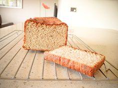 hi-protein, low-carb, sugar-free, dairy-free, gluten-free MEGA TASTEY banana bread #paleo