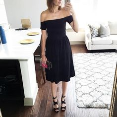 black off the shoulder top from ASOS