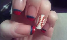 Game Day Nails. #Cleveland #Indians #GoTribe