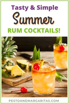 Tasty & Simple Summer Rum Cocktails Rum is one of the most tropical types of alcohol and that fits in with summer! Check out these tasty and simple summer rum cocktails including classic rum drinks and summery twists to enjoy in the sunshine! Rum Cocktails, Famous Cocktails, Summer Rum Drinks, Types Of Cocktails, Alcoholic Drinks, Drinks Alcohol, Cold Drinks, Gin, Margaritas