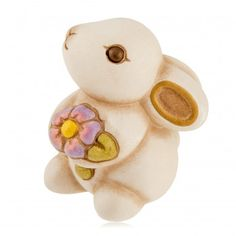 Coniglio con primula Hobby, Bunny, Teddy Bear, Ceramics, My Favorite Things, Gifts, Animals, Home, Figurative