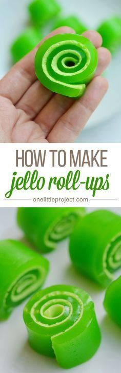 These jello roll-ups were amazingly easy to make!
