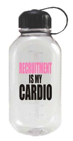 Recruitment Is My Cardio 28 oz. Water Bottle - Kiss My Southern Sass Phi Sigma Sigma, Delta Phi Epsilon, Alpha Omicron Pi, Kappa Kappa Gamma, Pi Beta Phi, Kappa Alpha Theta, Delta Gamma, Sorority Recruitment, Sorority Life