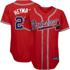 Homme Atlanta Braves 3//4 Manche Raglan T-shirts Baseball Jersey Équipe Sportive Tee