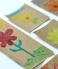 Crayons and Sandpaper Transfer Art