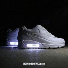 BATMAN NIKE AIR MAX 90 WITH YELLOW LED LIGHTS Shoe Wear (Shoe