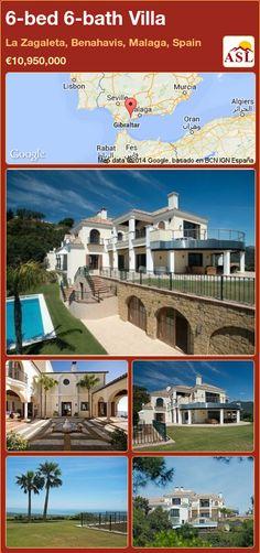 Villa for Sale in La Zagaleta, Benahavis, Malaga, Spain with 6 bedrooms, 6 bathrooms - A Spanish Life Murcia, Puerto Banus, Malaga Spain, Cinema Room, Steam Room, Heated Pool, Home Cinemas, Seville, Beautiful Gardens