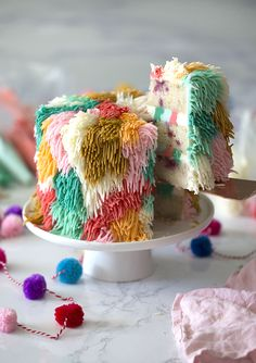 shag cake! - Want to remind Mom about the good old 60s? Then make this colorful cake that looks like shag carpet but tastes so groovy! Far Out! #mothersday #desserts #baking #bestcakes