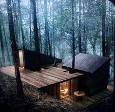 hotel arquitectura 12 moderne Huser mit schner Architektur und Natur - anders anders You are in the right place about Hotel architecture Here we offer you the m Casas Containers, Cabin In The Woods, Home In The Mountains, Cottage In The Woods, Forest House, Forest Cabin, Forest Cottage, Woodland House, Snow Forest