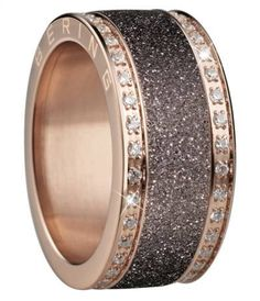 Bering Time Arctic Symphony rose Stardust ring