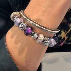 Purple Dreams - Trollbeads bracelet featuring the beautiful Amethyst Bead