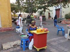 Fruit Vendor in Cartagena #Colombia #Food