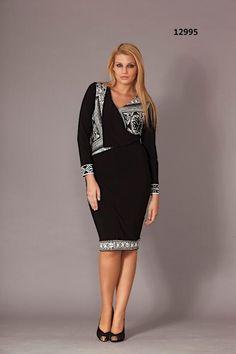 0108574b1c2200b Стильные платья для полных женщин турецкого бренда Gemko. Осень-зима  2013-2014