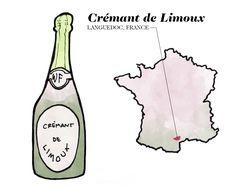 Crémant de Limoux Wine Illustration by Wine Folly