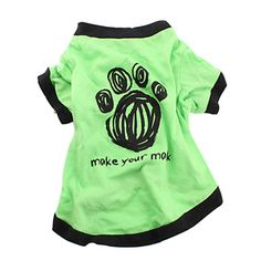 Make Your Mark Cotton T-shirt for Dogs (Green, Multiple Sizes Available) – US$ 2.99