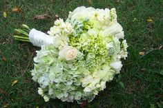 hyadrangea daisy bouquet | ... Powell » green hydrangea and ivory rose bouquet»Carrie Anne Powell
