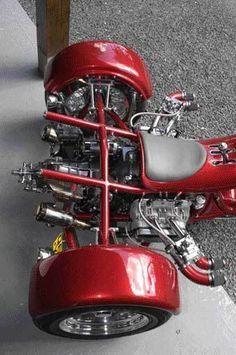 Trike Bicycle, Chopper Motorcycle, Custom Trikes, Custom Cars, Vintage Motorcycles, Custom Motorcycles, Vw Trikes For Sale, Drift Trike Motorized, Harley Davidson Trike